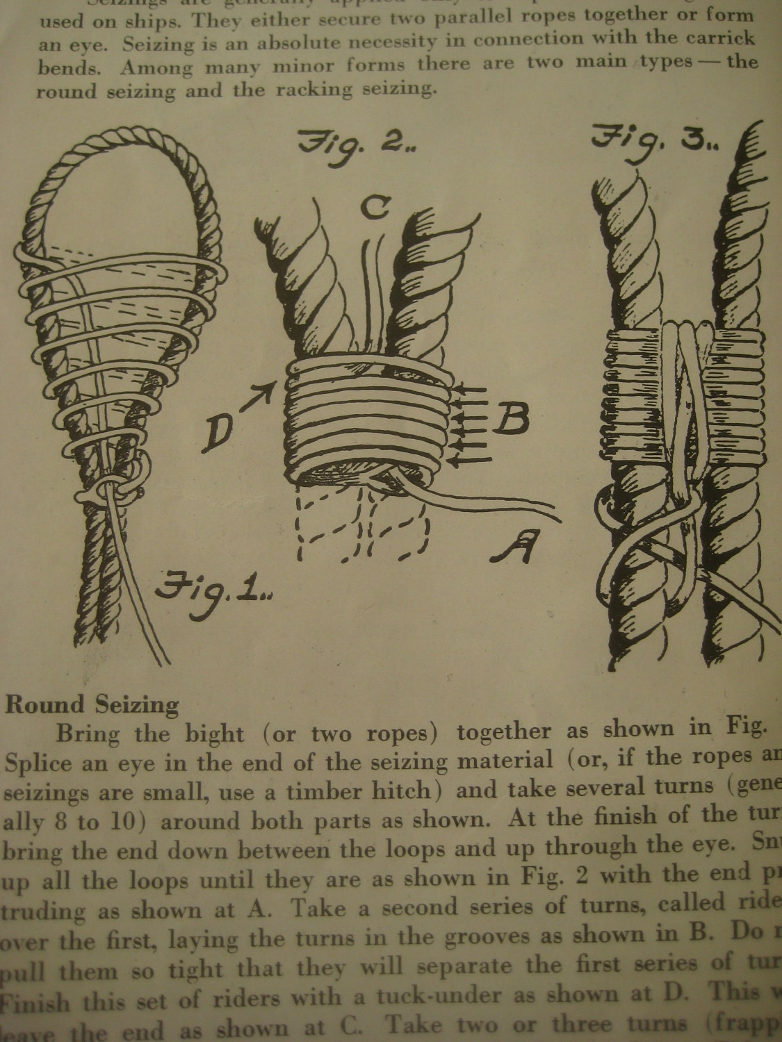 Vintage Knot Tying Boy Scouts How To Book Knot Illustrations