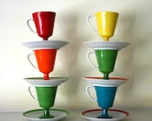 six vintage colorful coffee cups and saucers delight your tastebuds
