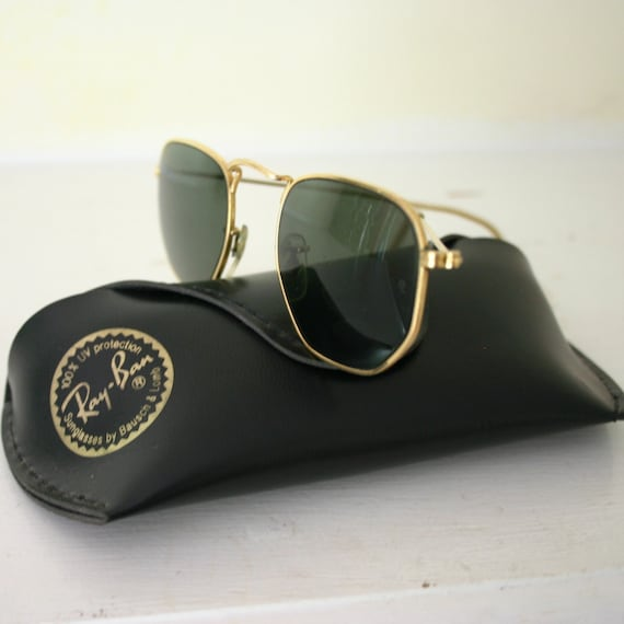 vintage ray ban sunglasses  Vintage Ray-Ban sunglasses rare octagon gold metal rims free