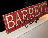 Family Name Sign - Style 1