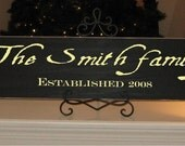 Family Name Sign - Style 10