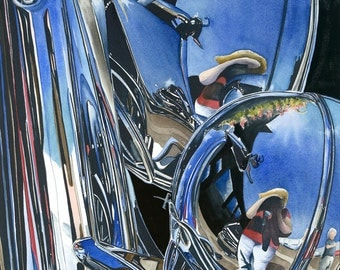 American Chrome- signed limited edition watercolor print