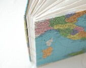 Italy/Brazil Blank Map Journal - Watercolor Paper