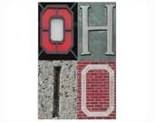 OHIO - 4 x 6 Scarlet and Gray photograph - OSU Ohio State Go Bucks Buckeyes Scarlet and Gray