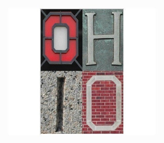 OH IO  - Scarlet and Gray - 8 x 12 fine art photograph