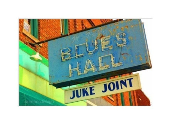Blues Hall Juke Joint - 8 x 10 photograph