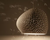 "Pendant Lamp: 9"" Claylight, Line Pattern - 15% Off"