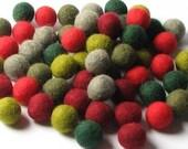 1CM Felt Balls/60-Piece - Retro Mix