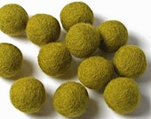 2CM Felt Balls/24-Piece - Olive