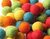 1.5CM Felt Balls/60-Piece - Fiesta Mix