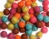 1CM Felt Balls/60-Piece - Cirque Mix