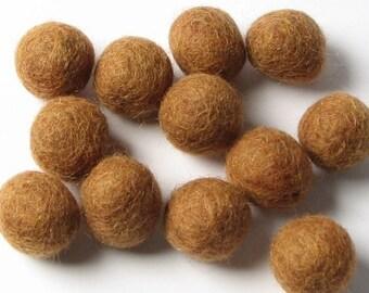 2CM Felt Balls/24-Piece - Fawn