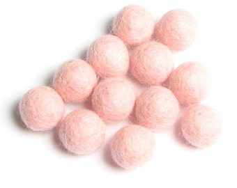 2CM Felt Balls/24-Piece - Pink