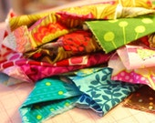 half-pound fabric scrap pack for crafting, quilting, embellishing, yo-yos, hairbands and more
