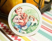 Little Boys Vintage Circle Tags - Set of 12
