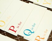 Mini - A is for . . . . . One Word Tags - Set of 26