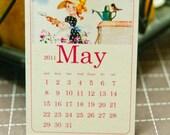 2012 Mini Vintage Calendar Cards - Set of 12