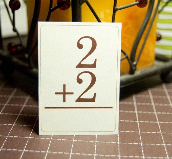Math Addition Flash Cards - Mini - Set of 16