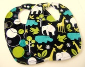 Boutique Baby Bib Gift Set - Zoology and Dots