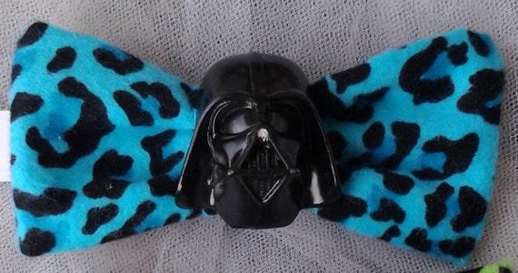 Darth Vader Blue Leopard Hair Bow - Star Wars