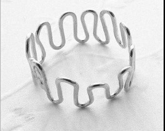 Sterling Silver Adjustable Squiggle Toe Ring