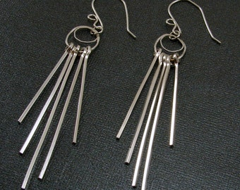 Sterling Silver Strand Earrings (Customizable)