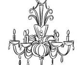 Graphic chandelier II of IV (33610D)