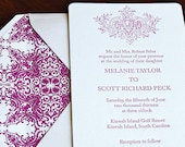 Cascina - Letterpress Wedding Invitation Sample