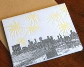 Brooklyn Bridge, letterpress, Single