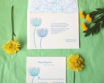 Meadow -  Letterpress Wedding Invitation Sample