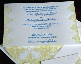 Cappella Wedding Invitation- Letterpress, SAMPLE