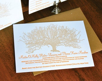 Heirloom -  Letterpress Wedding Invitation Sample