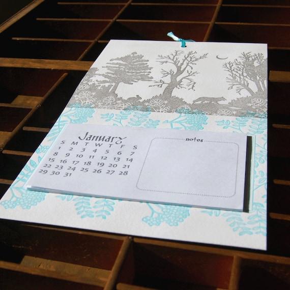 items similar to 2015 letterpress printed tear away calendar on etsy