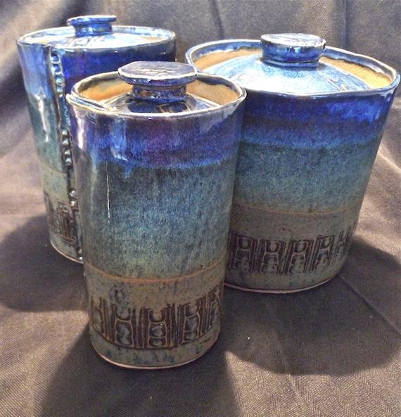 Kitchen Cannisters, Covered Jars, Cookie Jars, Dog Treat Jars (Set of 3)