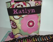 Little Girls Purse with Crayon Roll in Alexander Henry Floral