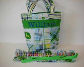 John Deere Kids Tote with Crayon Roll and Coloring Book
