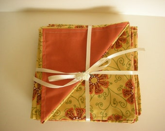 SALE, 6 Reversible Cloth Napkins for Everyday Use or Special Occasions