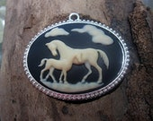Cameo with Horses - Free Shipping