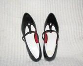 Vintage black patent shoes szie 7 1/2