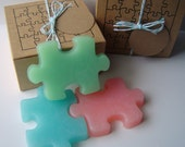Fun Puzzle Soap Set - Handmade Soap - Glycerin Soap - Novelty - Gift for Teen - Christmas - Birthday - Geek - gift for her - Shaped Soap