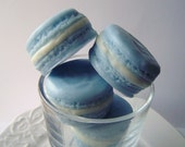 Soap - French Macaron - French Macaroon Goat's Milk Soap - Blueberry Delight Scent - Pastel Blue - Gift for Her - Christmas gift