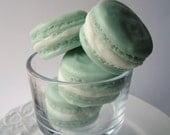 Soap - French Macaron Soap - French Macaroon Goat's Milk Soap - Almond Scented - Pale Green - Gift for Her - Christmas gift - Novelty