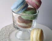French Macaron Soap Gift Set - French Macaroon Goat Milk Soap - Pink, Blue, Yellow, Green and Brown - Mothers Day gift - Easter - fake food