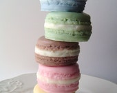 French Macaron Gift Soap Set - Choose 3 scents - Handmade goat milk soap - gift for her - Easter - Mothers day - fake food - Shaped Soap