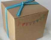Surprise Box - Goat's Milk and Glycerin Soap - 4x4x4 Hand stamped Gift box included - Blooper soaps - grab bag - novelty - gift - for her