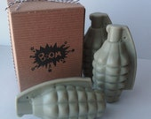 Hand Grenade Bomb Soap - Scented Patchouli  - Goat Milk Soap - For Men - Novelty - Fathers day gift - Military gift - Shaped Soap - Dad