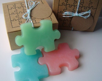 Fun Puzzle Soap Set - Handmade Soap - Glycerin Soap - Novelty - Gift for Teen - Easter - Birthday - Geek - gift for her - Shaped Soap
