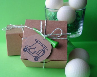 Golf Ball Soap Set - Goat milk Soap - Peppermint Scent - Fathers Day Gift - for him or her - White golf balls - Dude - Easter - Shaped soap
