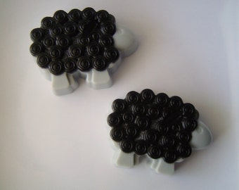 Baa Baa Black Sheep Soap - Goat Milk and Glycerin Soap - Black Licorice Scent - Gift - Party Favor - Shaped Soap - Novelty - Teen - Easter