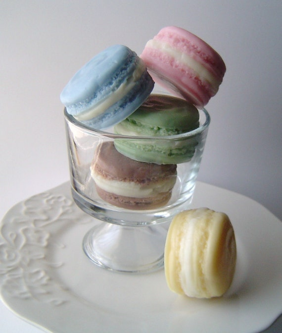 French Macaron Collection Complete Gift Set--Get all 5--Goat's Milk Soap--Scents- Almond, Black Raspberry and Vanilla, Blueberry Delight, Pineapple and Chocolate Cream Cheese Cupcake